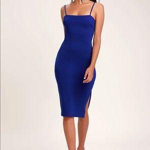 NWT Lulu's Paulina BodyCon Dress Cobalt Blue